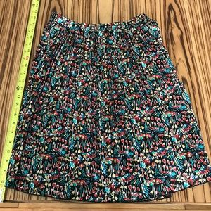 Colorful pleated skirt from Anthropologie